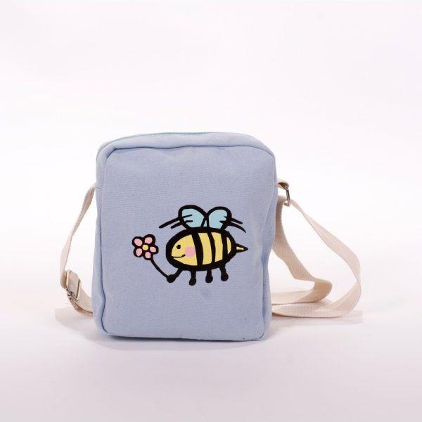 Bandolera azul abeja