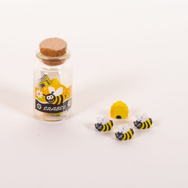 Gomas de borrar bote abejas colmenas