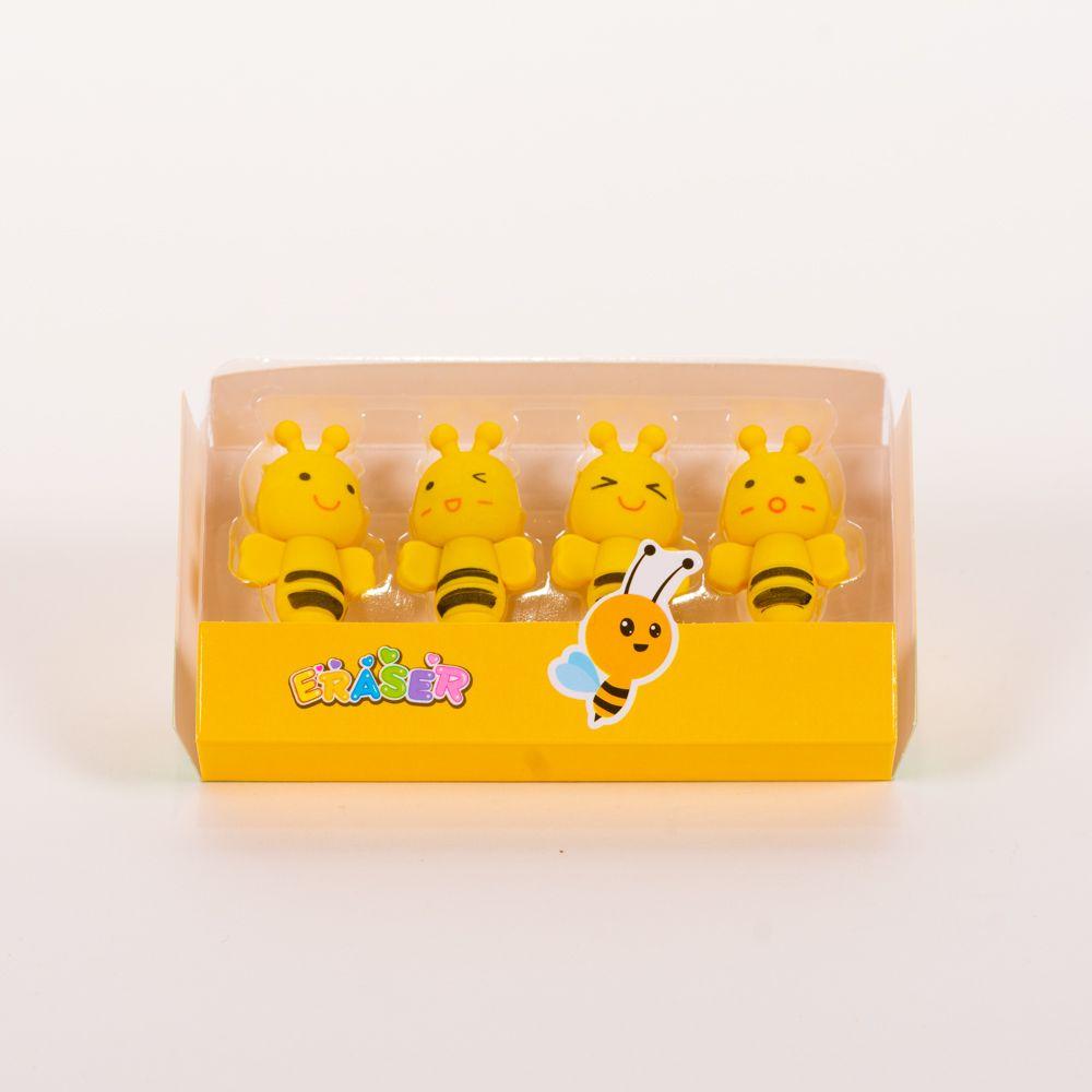 Gomas de borrar caja abejas